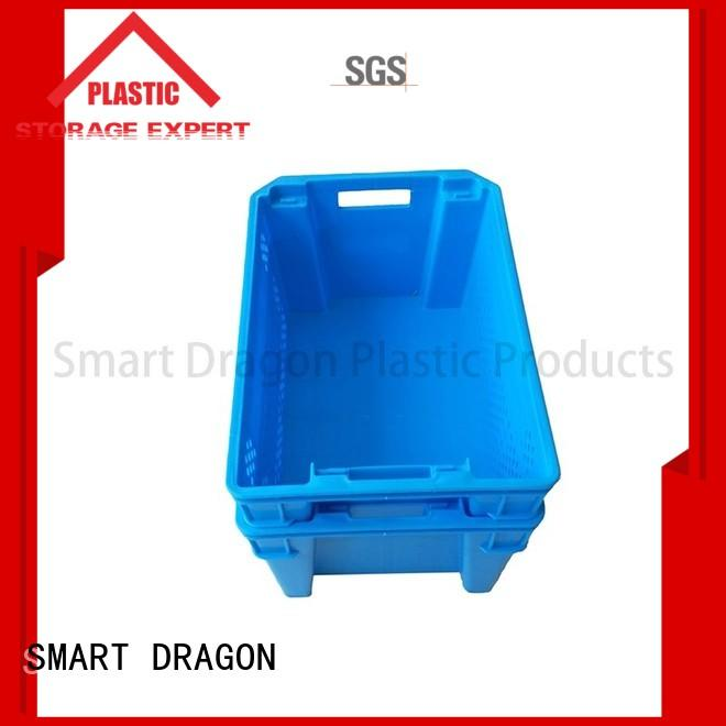 SMART DRAGON nesting stackable turnover box easy handle for home
