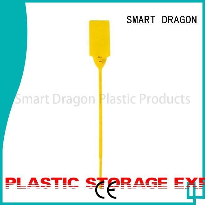 SMART DRAGON Brand logo barcode 230mm adjustable plastic bag security seal