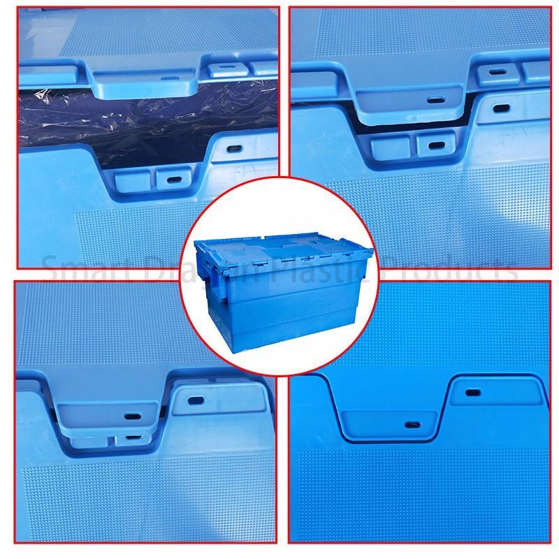 SMART DRAGON-Turnover Boxes | Blue Plastic Turnover Boxes Folding Crate - Smart Dragon