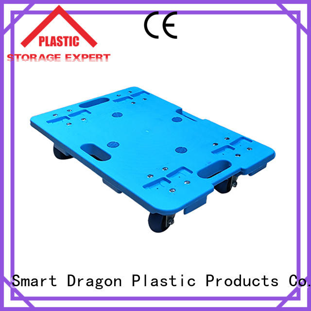 Plastic Moving 4 Wheel Hand Cart Dolly Stackable
