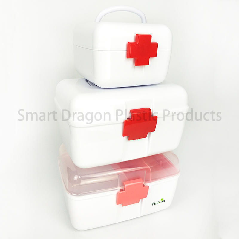 SMART DRAGON-Professional Plastic Medicine Storage Box Portable First Aid Kits Manufacture