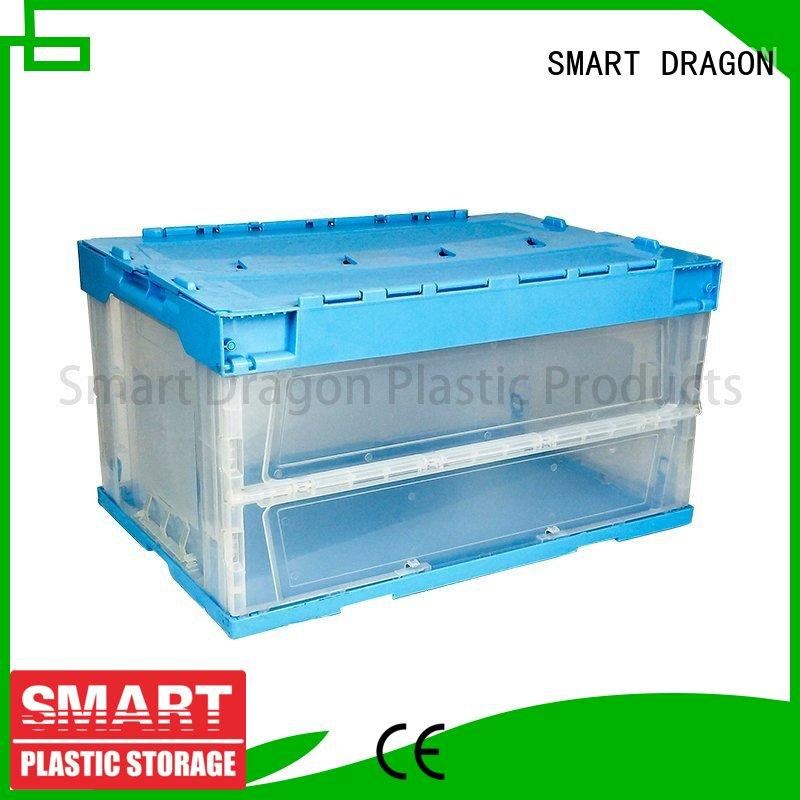 SMART DRAGON wall plastic turnover boxes logistic for supermarket