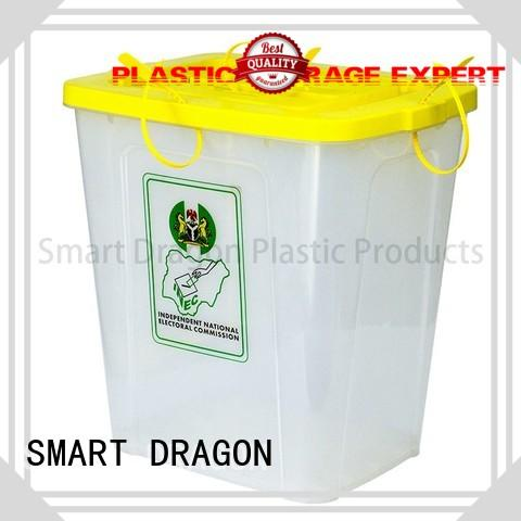 top polypropylene extra large ballot box clear for election SMART DRAGON