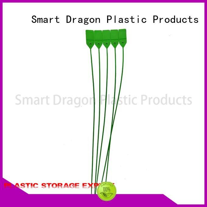 logo 180mm OEM plastic bag security seal SMART DRAGON