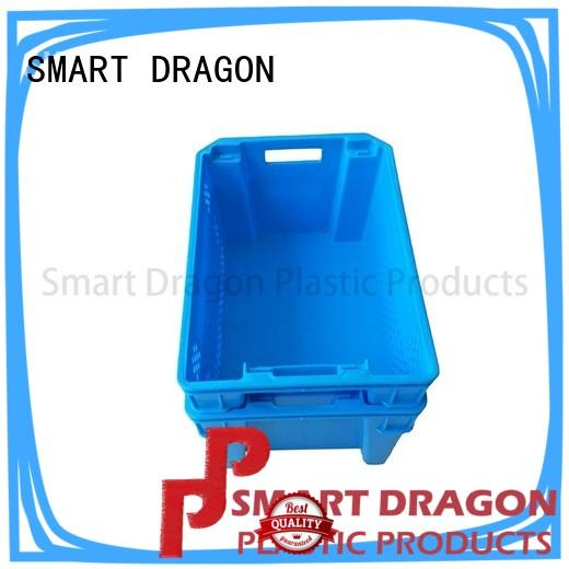 turnover crate with lid blue for wholesale SMART DRAGON