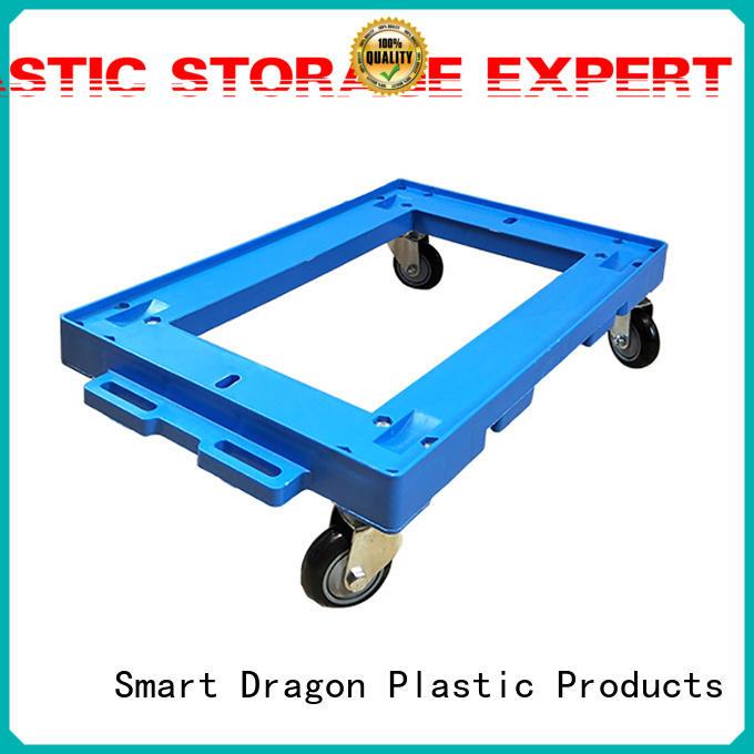 SMART DRAGON Brand wheeled plastic trolley portable factory
