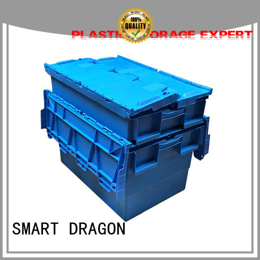 SMART DRAGON lidded turnover crate easy handle for supermarket