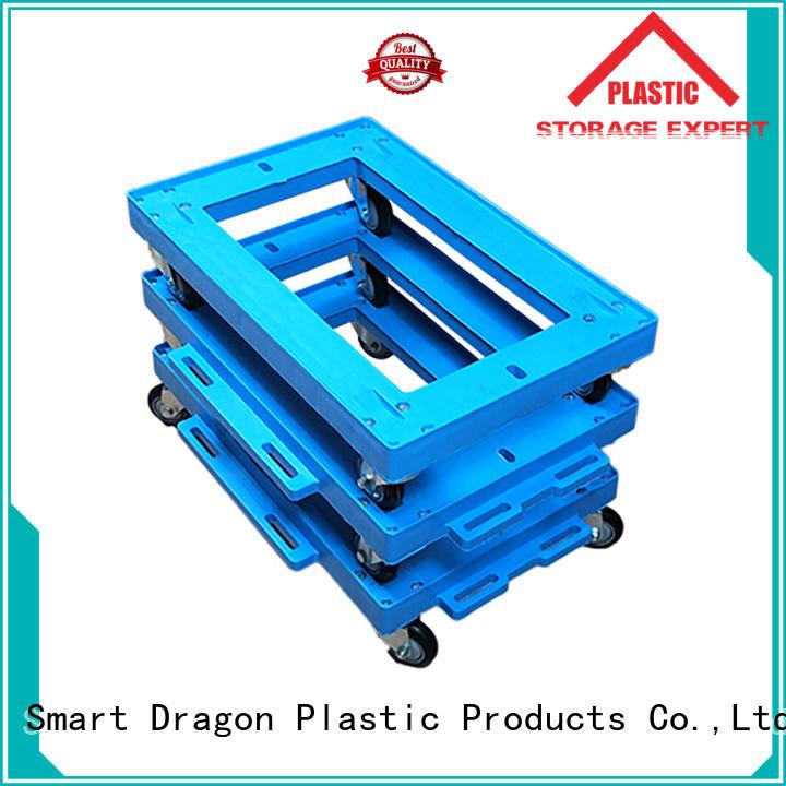 SMART DRAGON folded folding trolley OEM for turnover