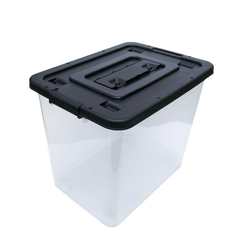 65L Transparent Plastic Ballot Election Vote Box Voting Bin-1