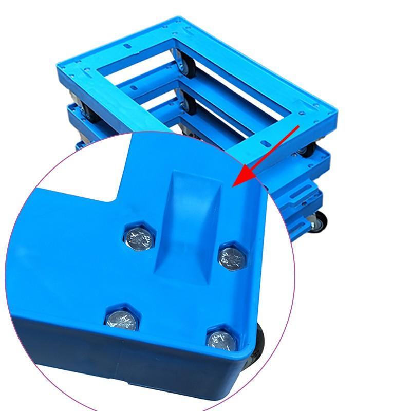 SMART DRAGON-Professional Portable Plastic Deck Platform Trolley Four-wheel Supplier-1