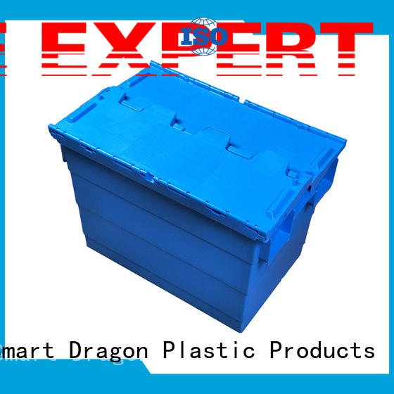 hand-moving durable turnover crate pp material for delivery SMART DRAGON