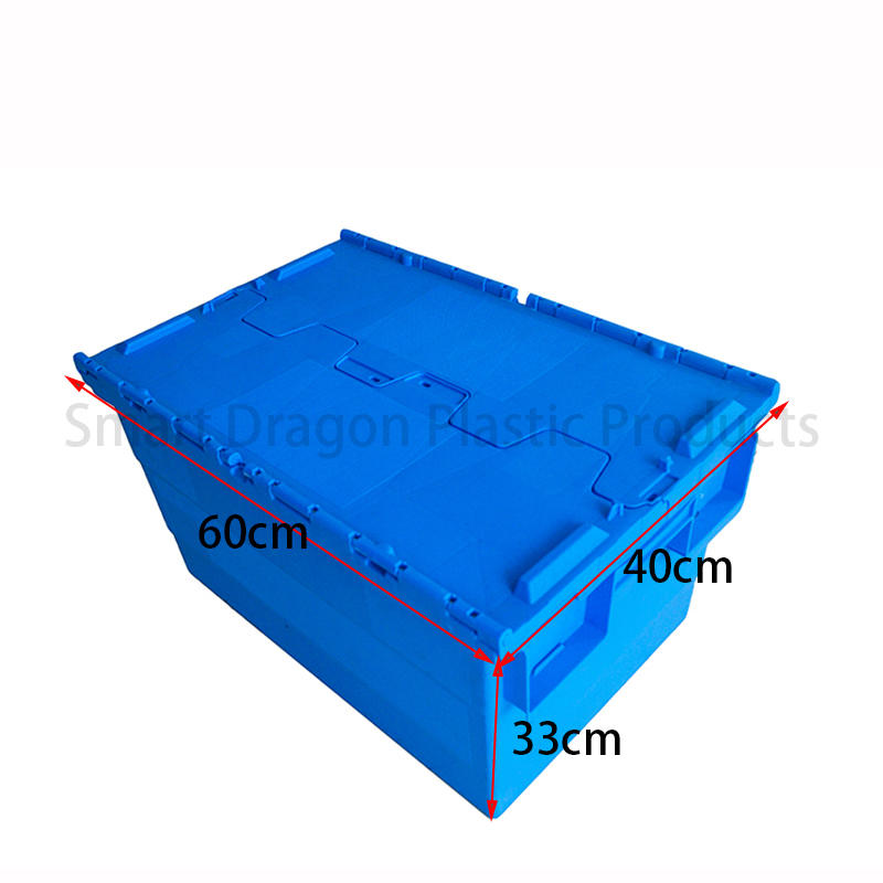 SMART DRAGON-Find Blue Plastic Turnover Boxes Folding Crate | Manufacture-1