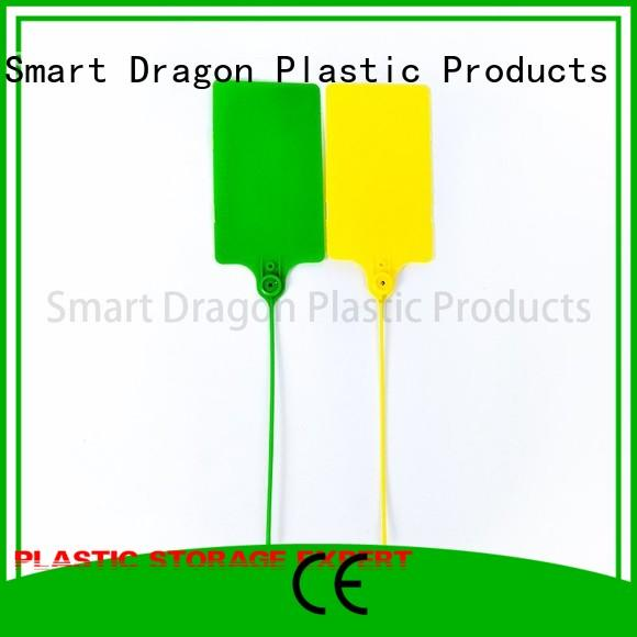 SMART DRAGON Brand 210mm numbers plastic bag security seal manufacture