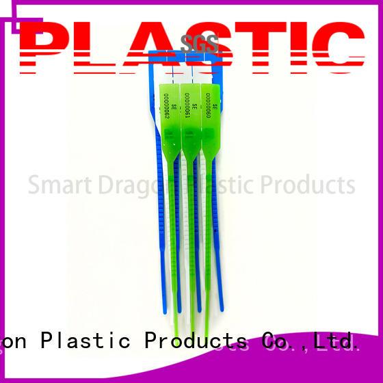 numbers Custom tear 370mm plastic bag security seal SMART DRAGON tamper