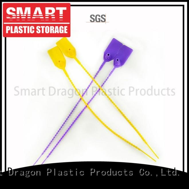 SMART DRAGON Brand 350mm barcode colored high security truck seals 210mm