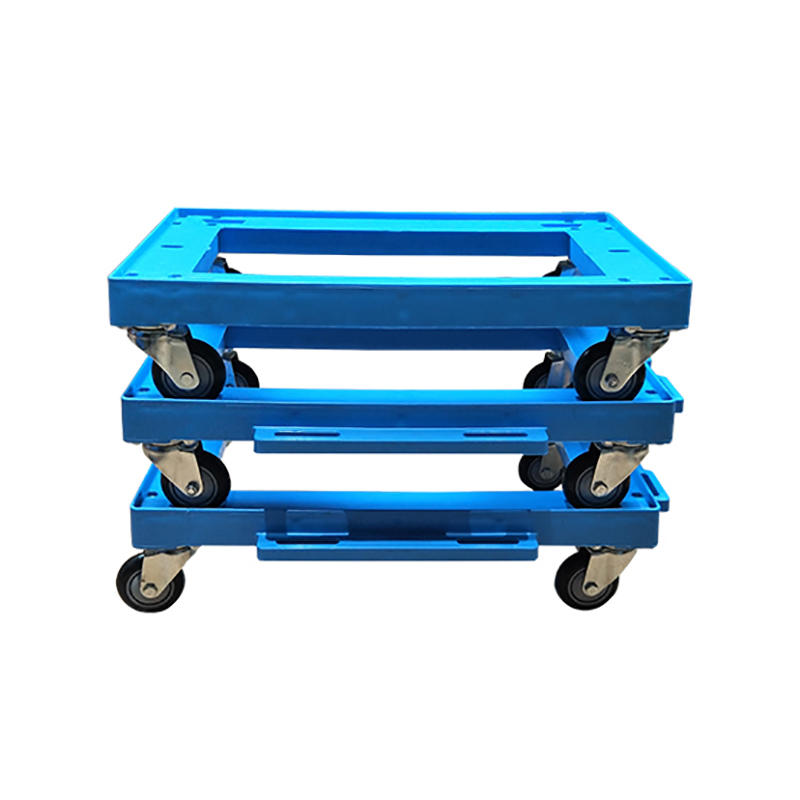 SMART DRAGON-Professional Plastic Moving Dolly Four Pp Wheel Trolley Supplier