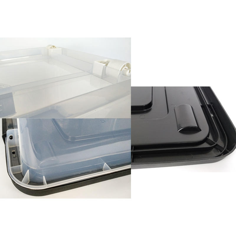 New Transparent Plastic Storage Box With Pulley-3