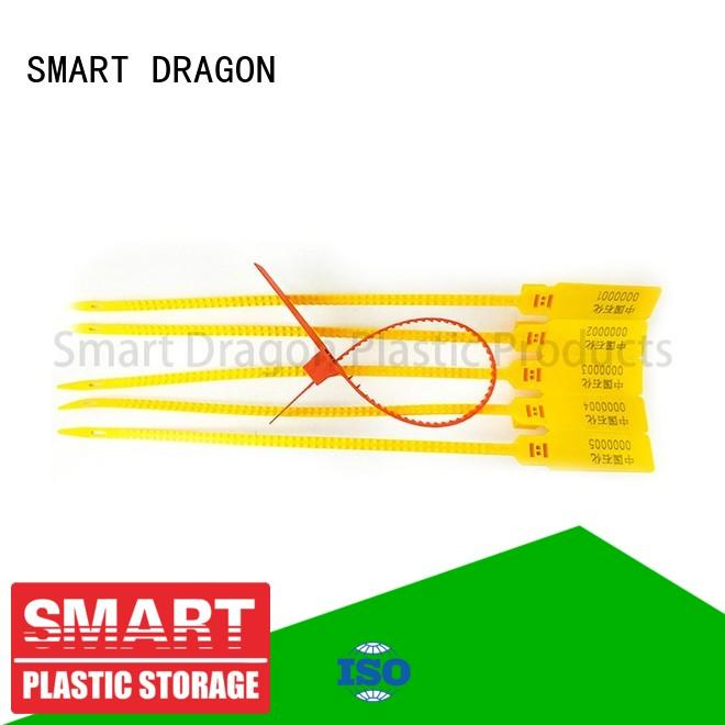 SMART DRAGON Brand red printed 210mm high security truck seals locking
