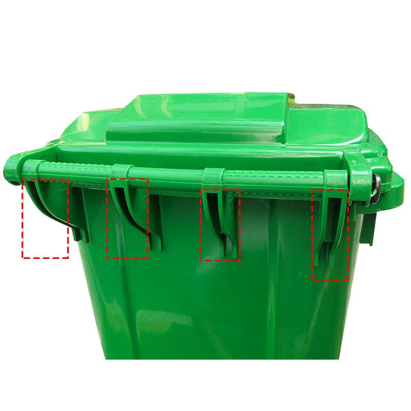 SMART DRAGON-Outdoors Street Plastic 240l Trash Can Waste Bin-smart Dragon Plastic Products