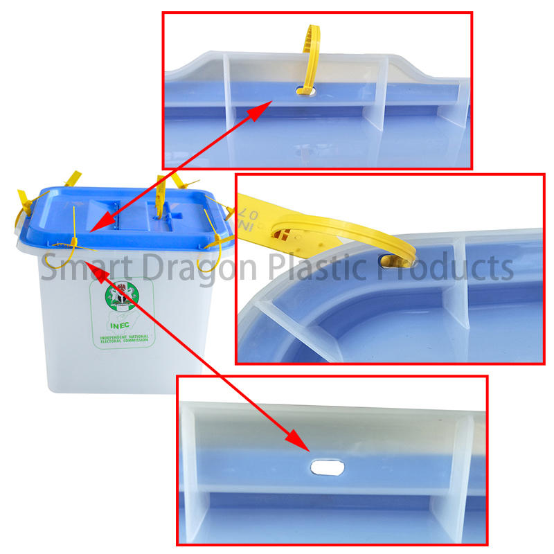 SMART DRAGON-Professional Custom-made 45l-55l Clear Plastic Ballot Box Supplier