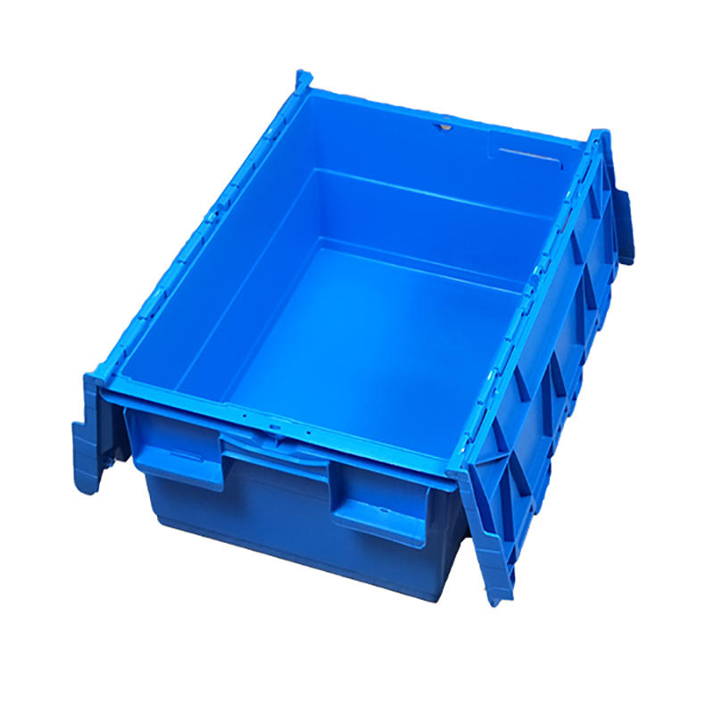 SMART DRAGON-Blue Stackable Nesting Plastic Turnover Boxes Crates With Lid | Plastic-1