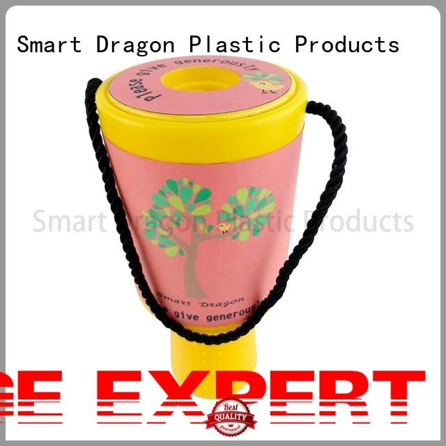 SMART DRAGON multi-functional money collection box red for charity collection