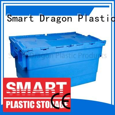 customized turnover crate with lid for delivery