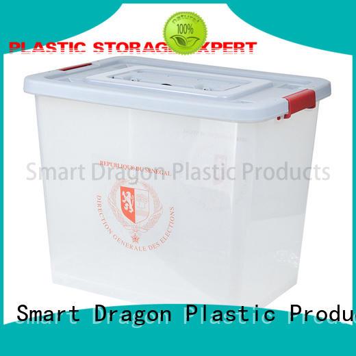 SMART DRAGON top polypropylene transparent voting box directional for election