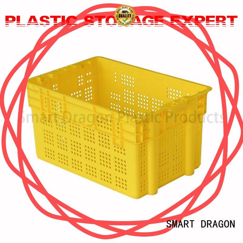 SMART DRAGON wholesale turnover crate with lid factory for wholesale