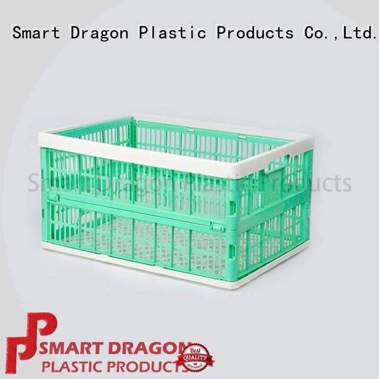 hollow plastic folding baskets large size for fruit SMART DRAGON