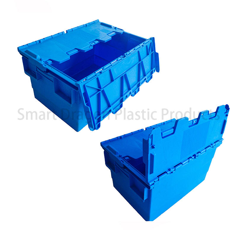 SMART DRAGON-Find Blue Plastic Turnover Boxes Folding Crate | Manufacture-2