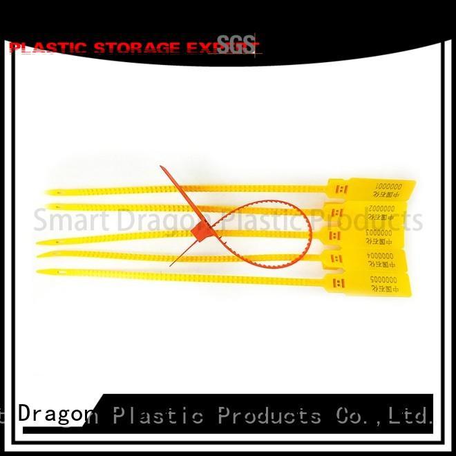 high security truck seals logo tear plastic bag security seal SMART DRAGON Brand