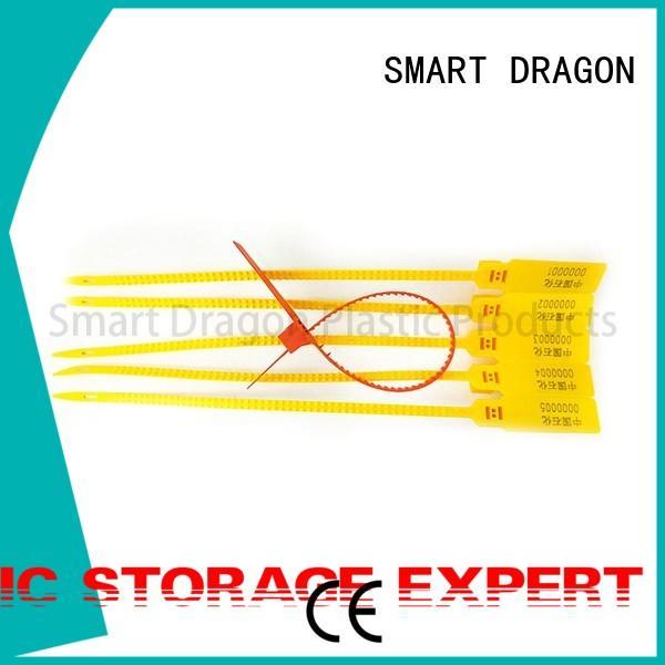 serial Custom disposable plastic bag security seal off SMART DRAGON