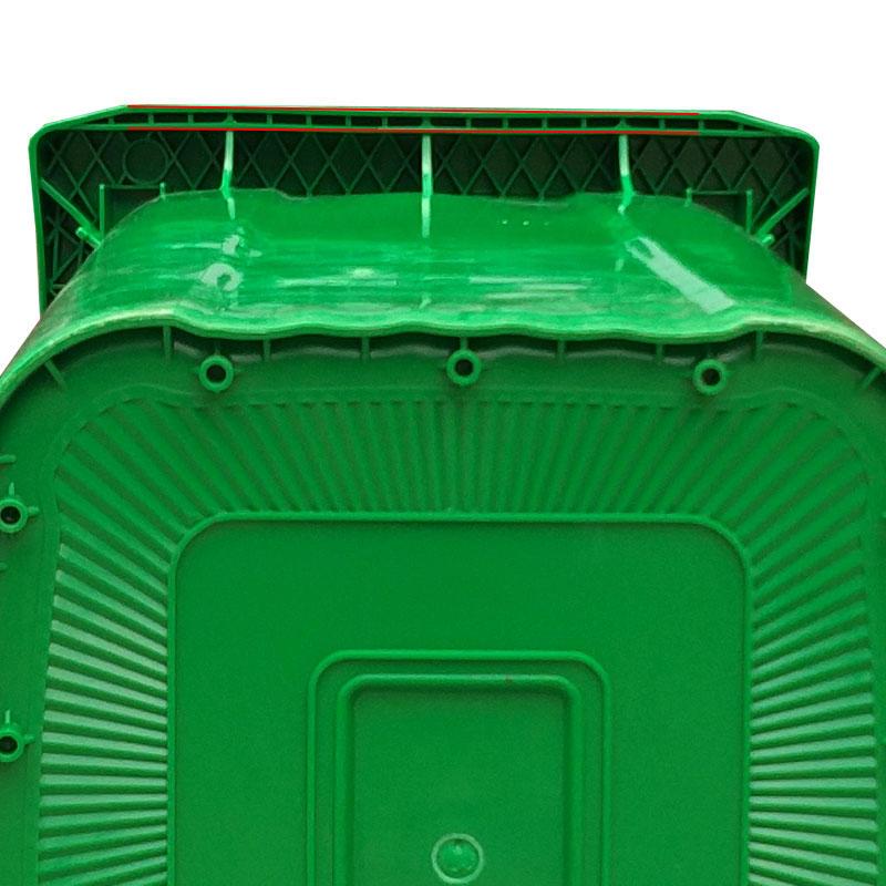 SMART DRAGON-Outdoors Street Plastic 240l Trash Can Waste Bin-smart Dragon Plastic Products-2