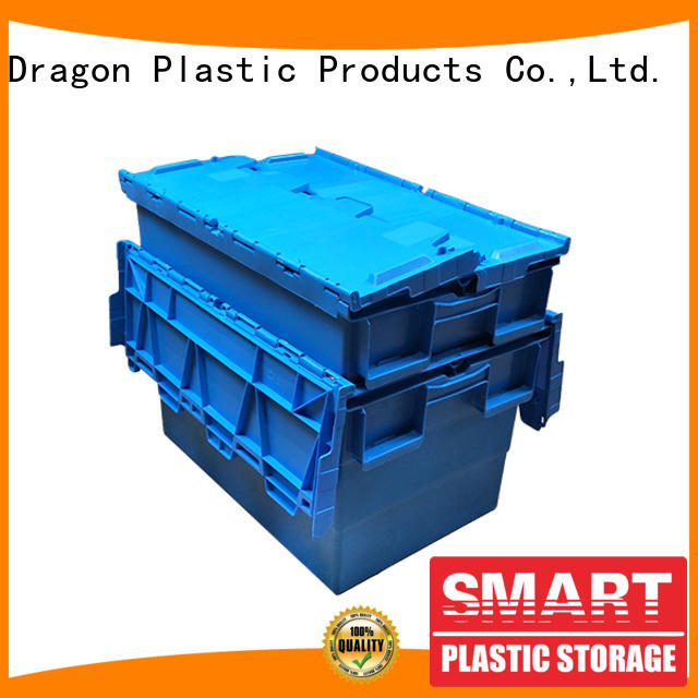 SMART DRAGON lidded turnover crate with lid Supply for shipping