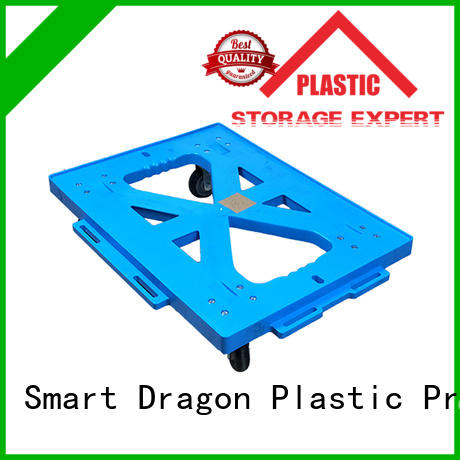 SMART DRAGON fourwheel plastic hand truck OEM for board