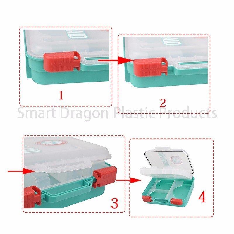 SMART DRAGON-Plastic First Aid Box Travel First Aid Kit Contents - Smart Dragon Plastic-1