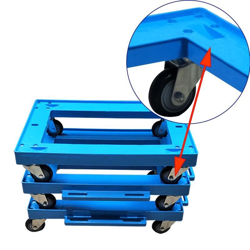 SMART DRAGON-Professional Portable Plastic Deck Platform Trolley Four-wheel Supplier-2