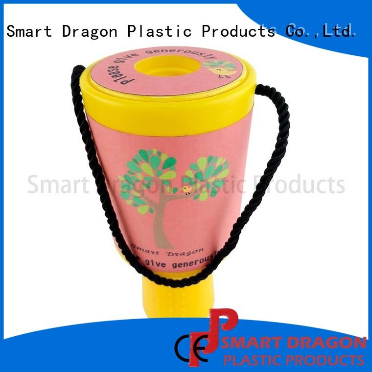 SMART DRAGON best quality plastic collection box for fundraising